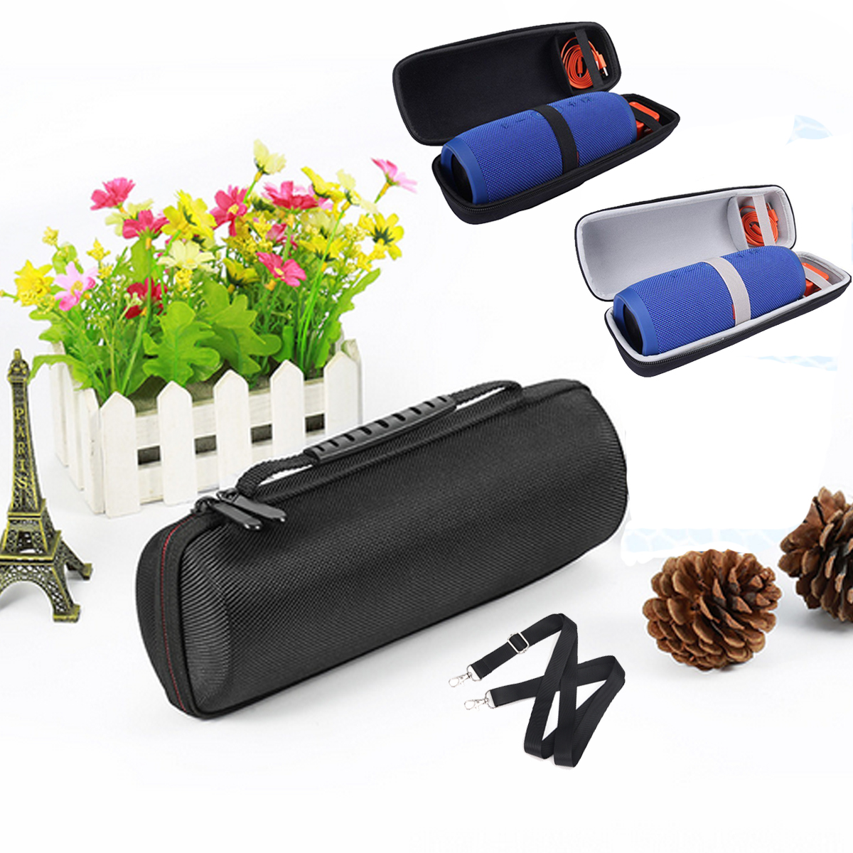 Buy Traval Zipper Carry Hard Storage Case Bag Box For Bluetooth Speaker
