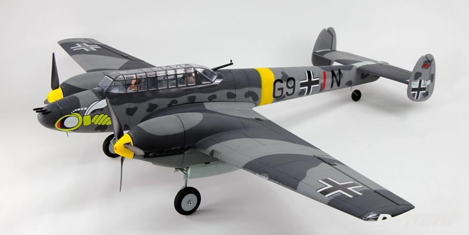Dynam Messerschmitt BF-110 V2 1500mm Wingspan EPO Fighter Warbird RC Airplane PNP DY8963