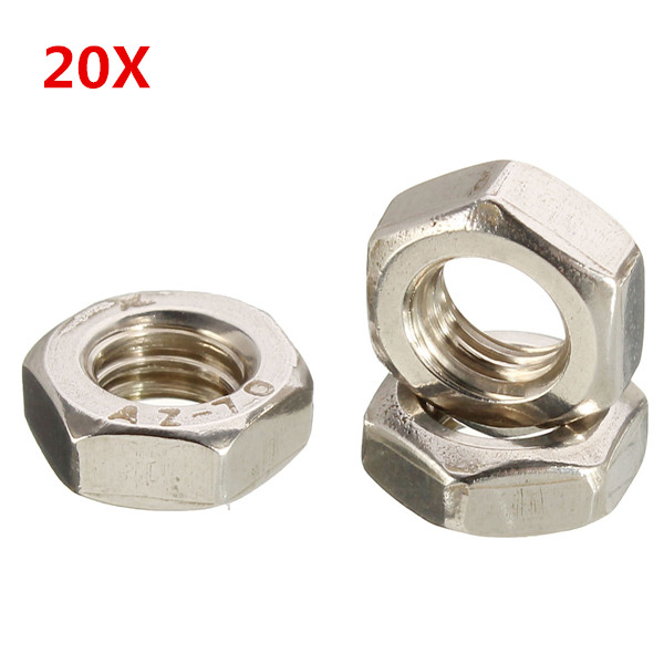 Buy 2M6 Stainless Steel Metric Coarse Pitch Screw Thread Hexagon Full Nuts