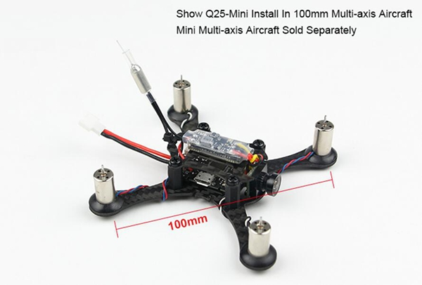 Kingkong Q25-Mini 5.8G 25MW 16CH VTX 600TVL CMOS 1/4 Micro FPV Camera   - Photo: 4