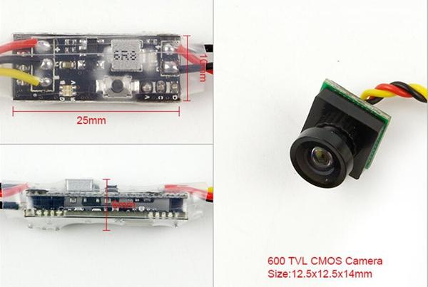 Kingkong Q25-Mini 5.8G 25MW 16CH VTX 600TVL CMOS 1/4 Micro FPV Camera   - Photo: 3