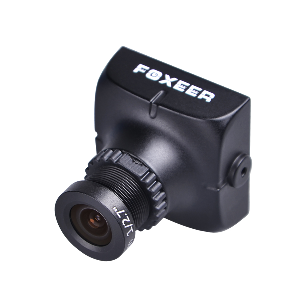 2PCS Foxeer HS1177 V2 600TVL CCD 2.8mm NTSC IR Blocked Mini FPV Camera 5-40V w/ Bracket Black