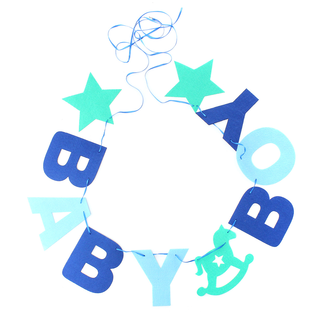 BABY BOY Baby Shower Bunting Garland Hanging Banner Flag Christening Party Decor - Photo: 4