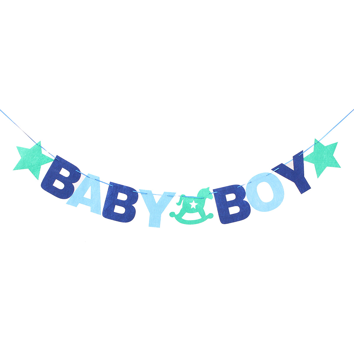 BABY BOY Baby Shower Bunting Garland Hanging Banner Flag Christening Party Decor - Photo: 6