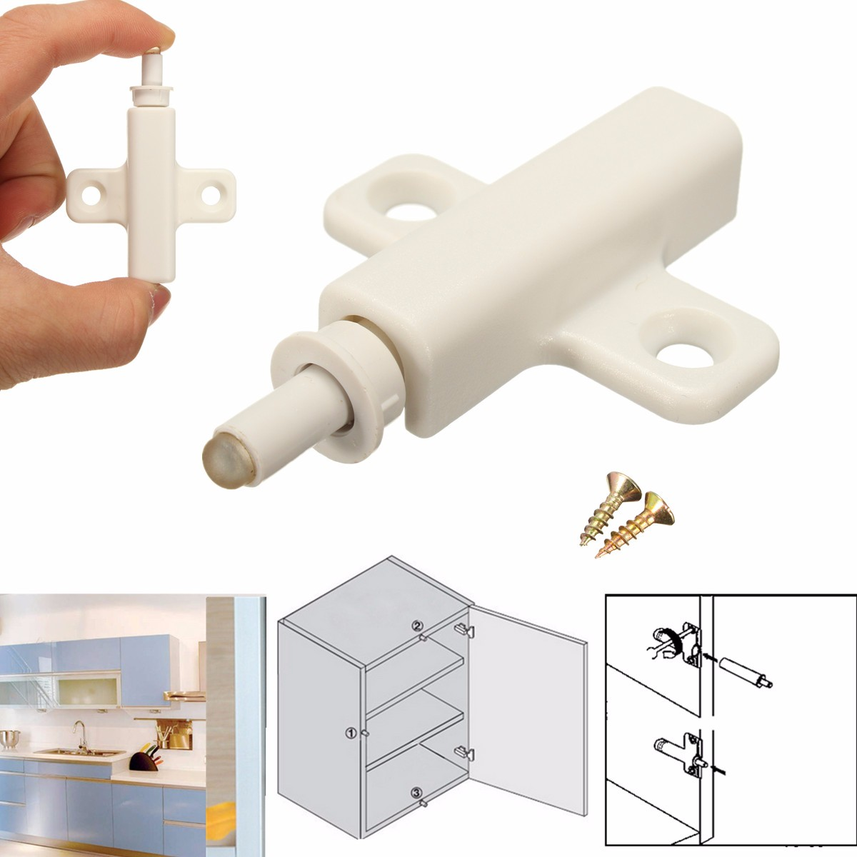 Buy Cabinet Cupboard Kitchen Door Dampers Buffer Soft Closer Cushion Close Stops