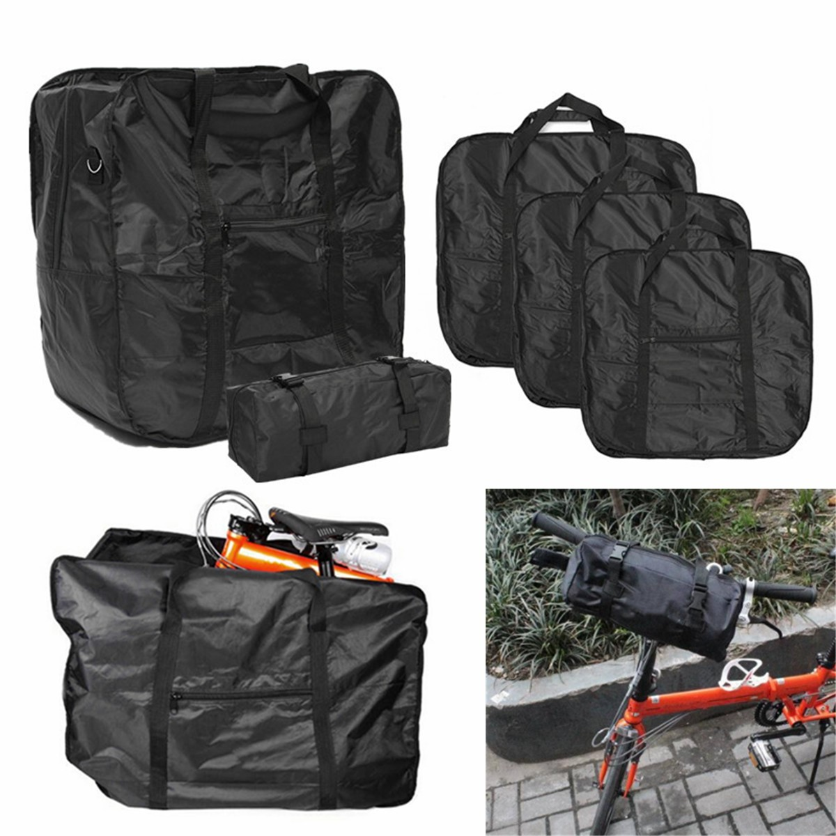 Bicycle Bike Folding Carrier Bag Carry Cover for Dahon