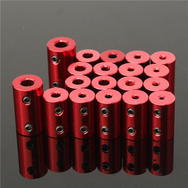 Aluminium Alloy Coupling Red Shaft Coupler with Hex Wrench and Screws Motor Coupler Connector