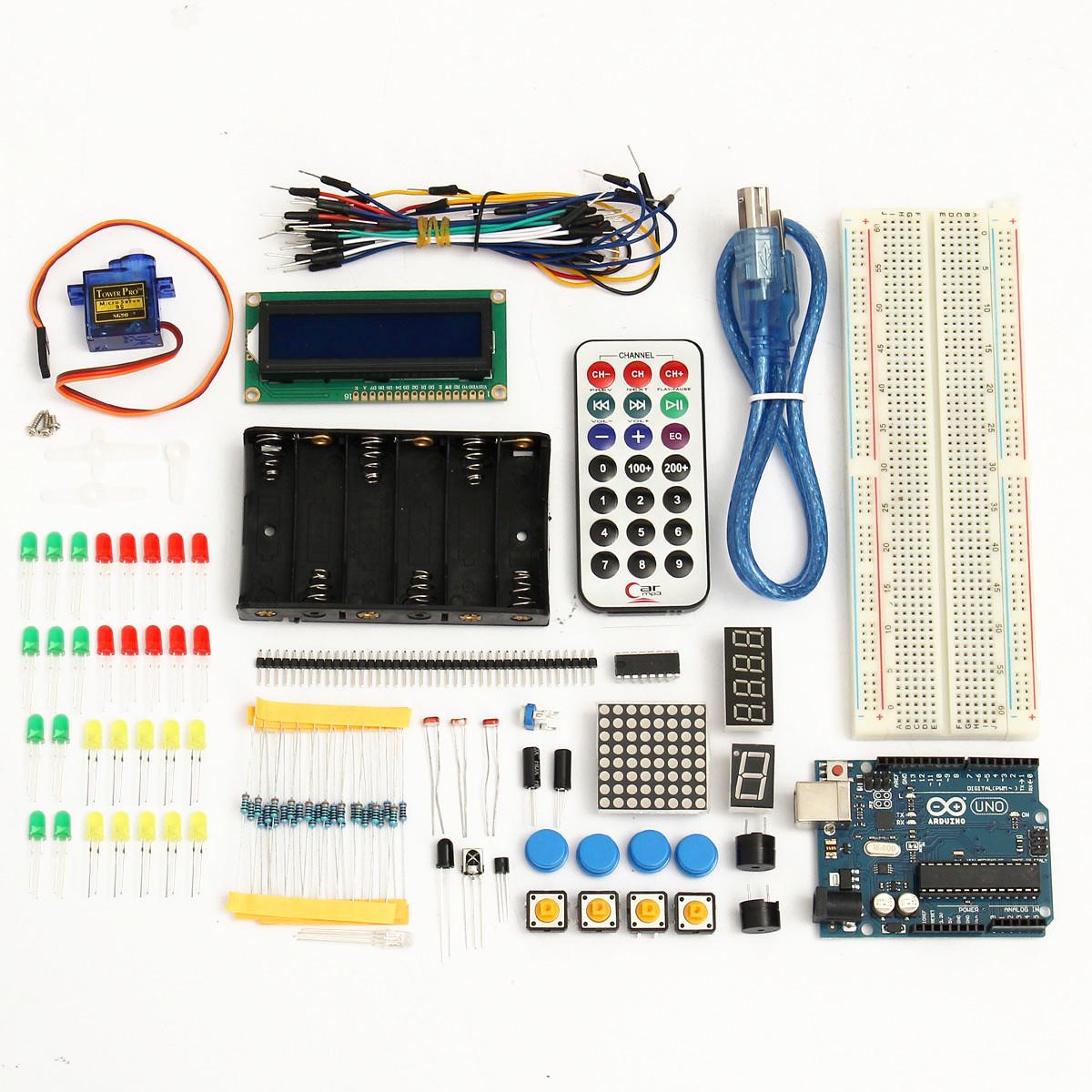 Buy Basic Starter Learning Kit UNO R3 1602LCD Sensor Breadboard For Arduino