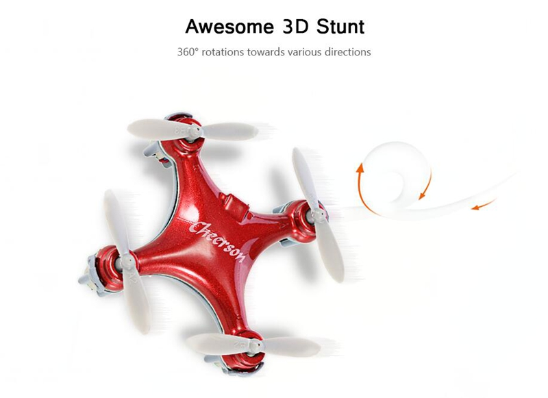 Cheerson CX-10SE CX10SE Mini 3D Flips 2.4G 4CH 6 Axis LED RC Quadcopter RTF - Photo: 4