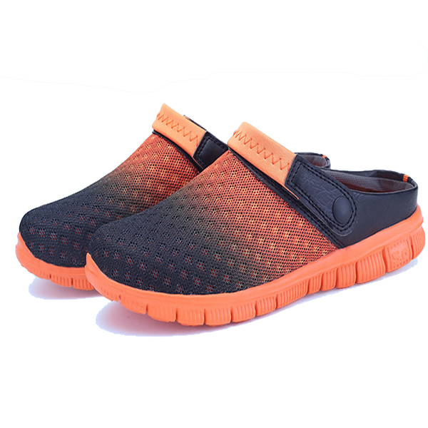 Buy US Size 6.5-10 Summer Men Mesh Beach Outdoor Slip On Comfortable Flats Sandals Slipper Shoes