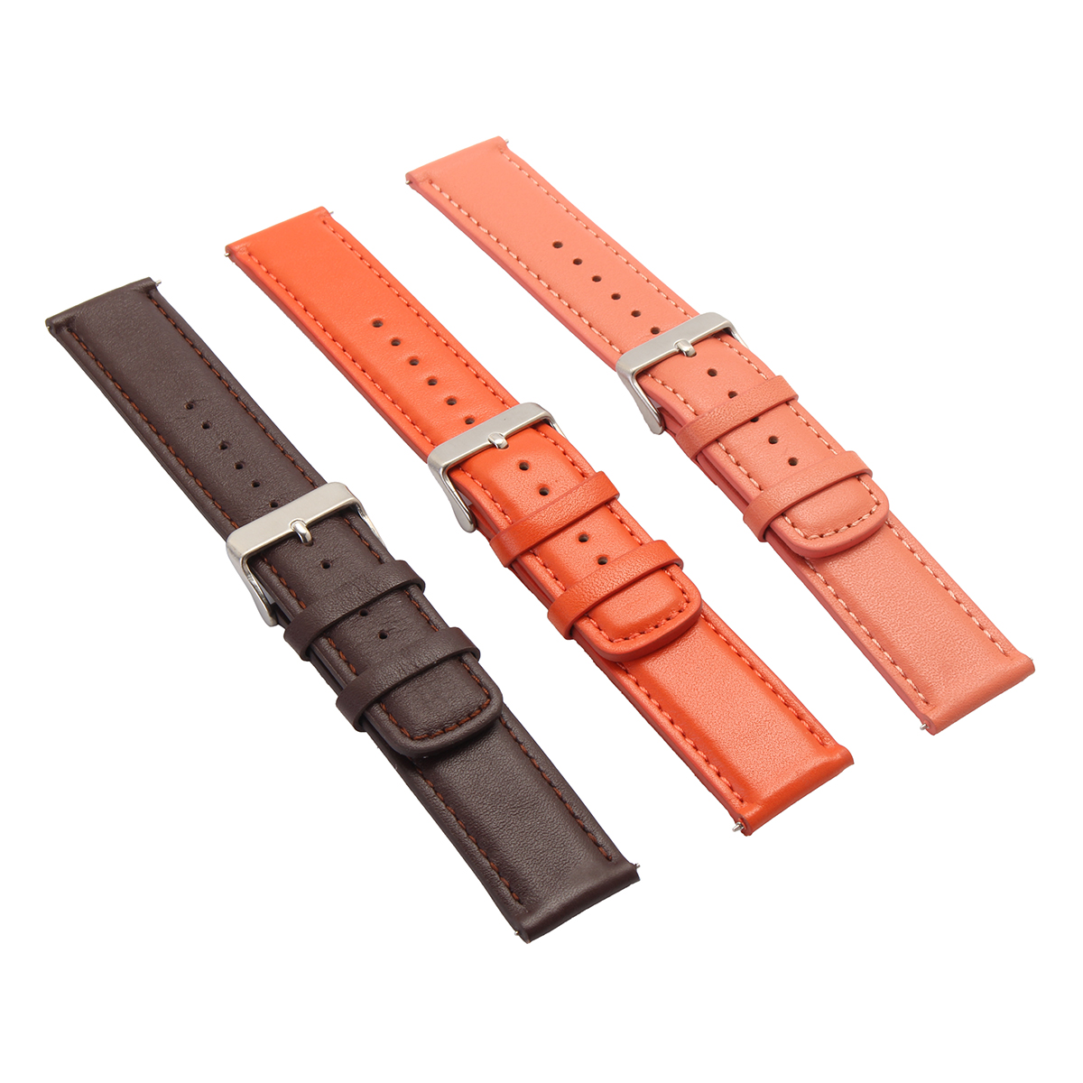 22mm Replaceable Leather Watch Band Strap Bracelet Time ...