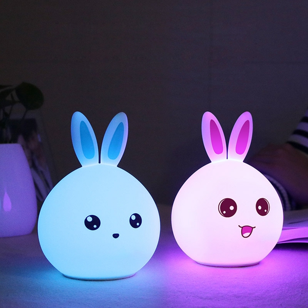 Color Changing Silicone Rabbit Night Light Remote Control