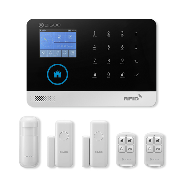 Digoo DG-HOSA Wireless GSM&WIFI&3G DIY Smart Home Security Alarm Systems Kits Infrared Motion Sensor Door Magnetism Alert with APP Control