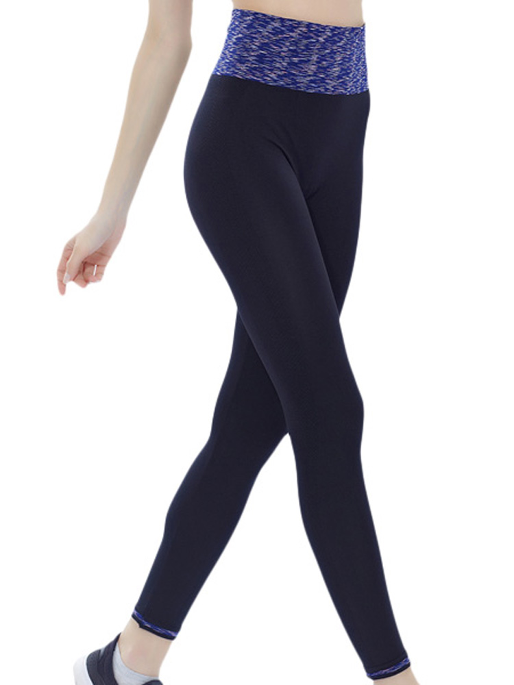 Buy Women Sports Ninth Leggings Patchwork Quick Dry Running Yoga Fitness Pants Legging