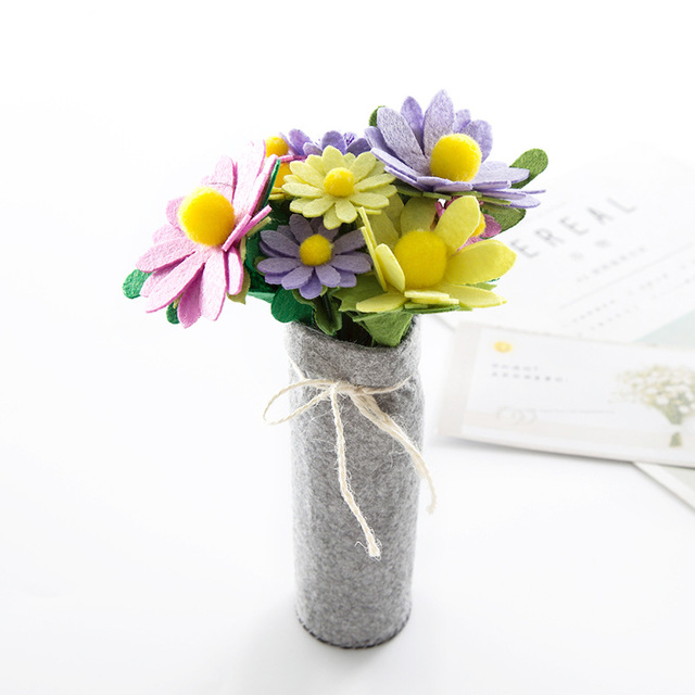 Non-woven Hand-made Fabric Diy Material Package Free Cutting Artificial Flower Decoration Decoration Mother's Day Creative Gift