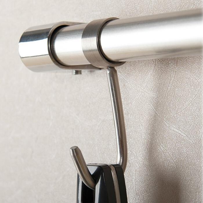19мм 25мм из нержавеющей стали крюк робы для трубки кухни для ванной комнаты Sundries вешалка