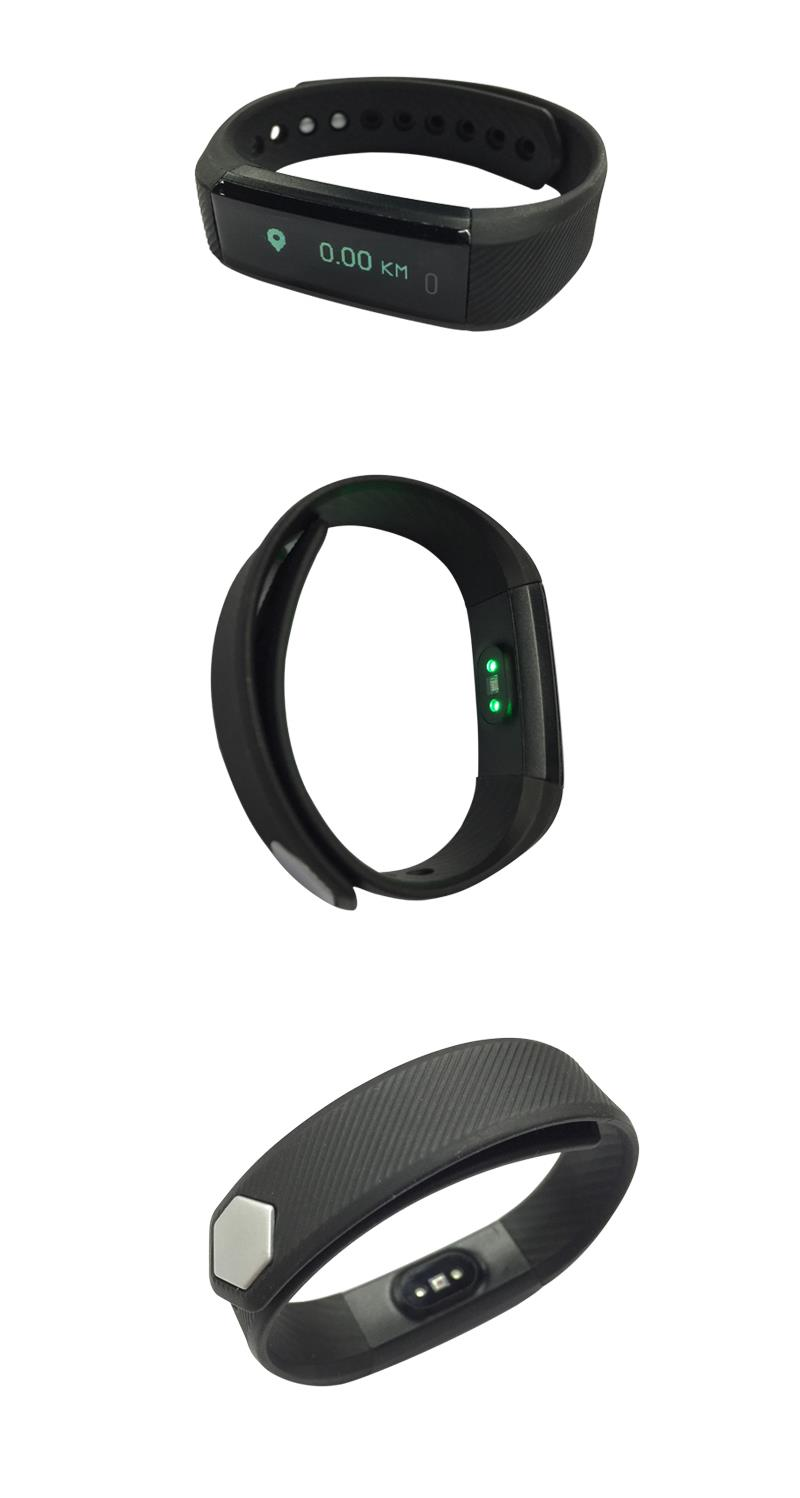 ID115HR Heart Rate Monitor Smart Bracelet Fitness Tracker Step Counter Wristband for Android IOS