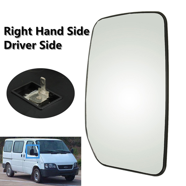 Buy Car Wing Door Mirror Glass Heated Clip On Driver Side For Ford Transit 2000-2013