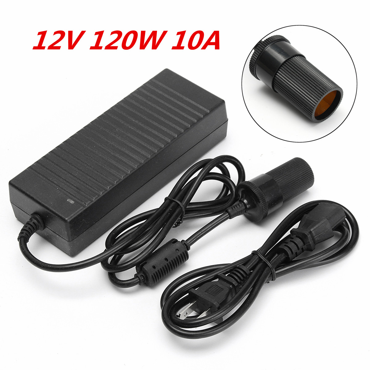Car Electrical Voltage : V w ac to dc power adapter converter car cigarette