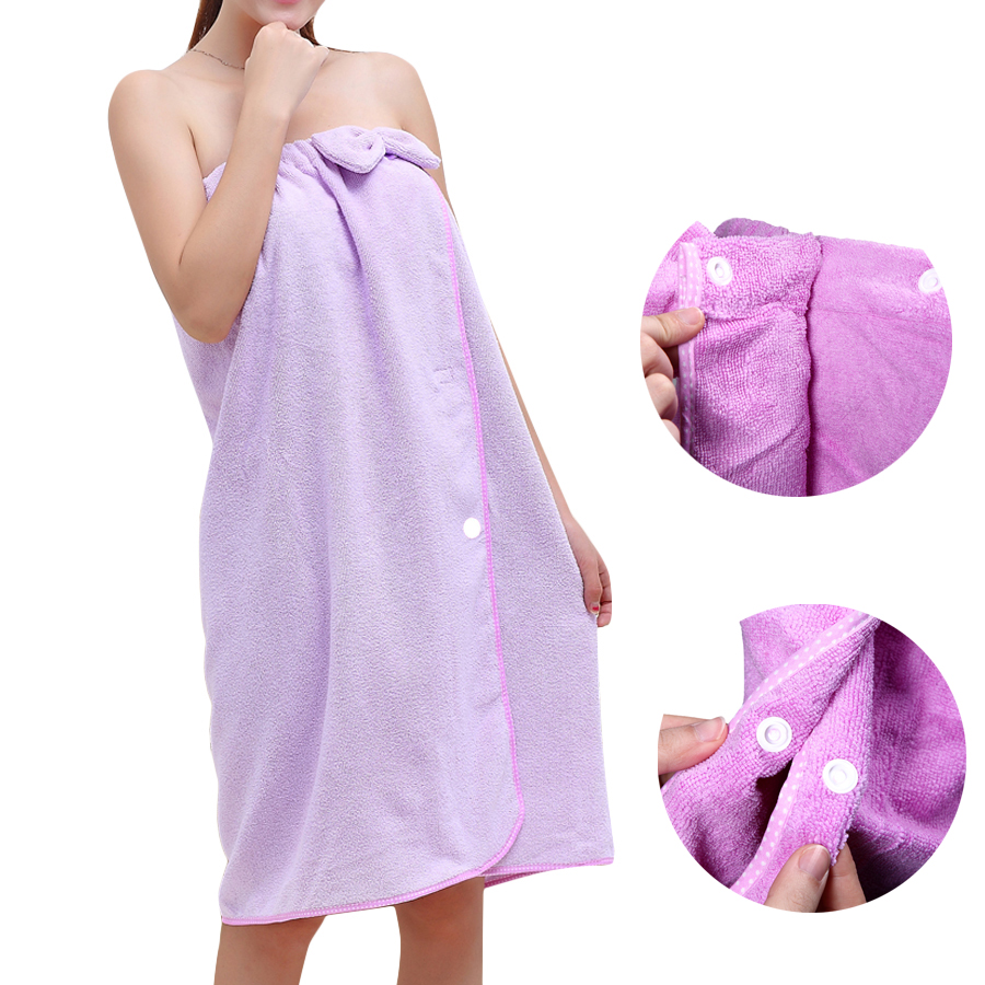 Buy Honana BX-282 Bowknot Bathrobe Women Soft Quickly Absorbent Microfiber Lovely Spa Bath Towel