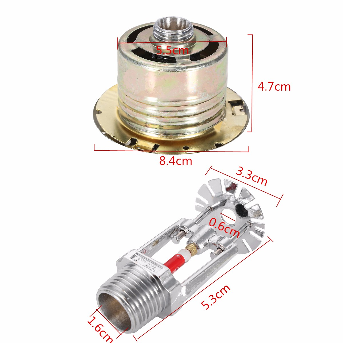 Hidden Type Fire Sprinkler Head With Cover For Fire