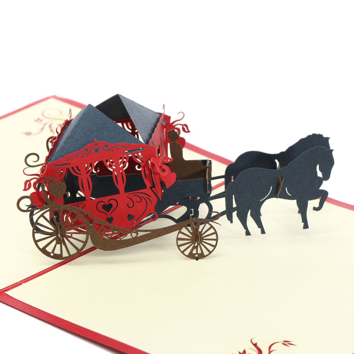 Invitations & Cards - Wedding Carriage 3D Pop Up Greeting Card ...