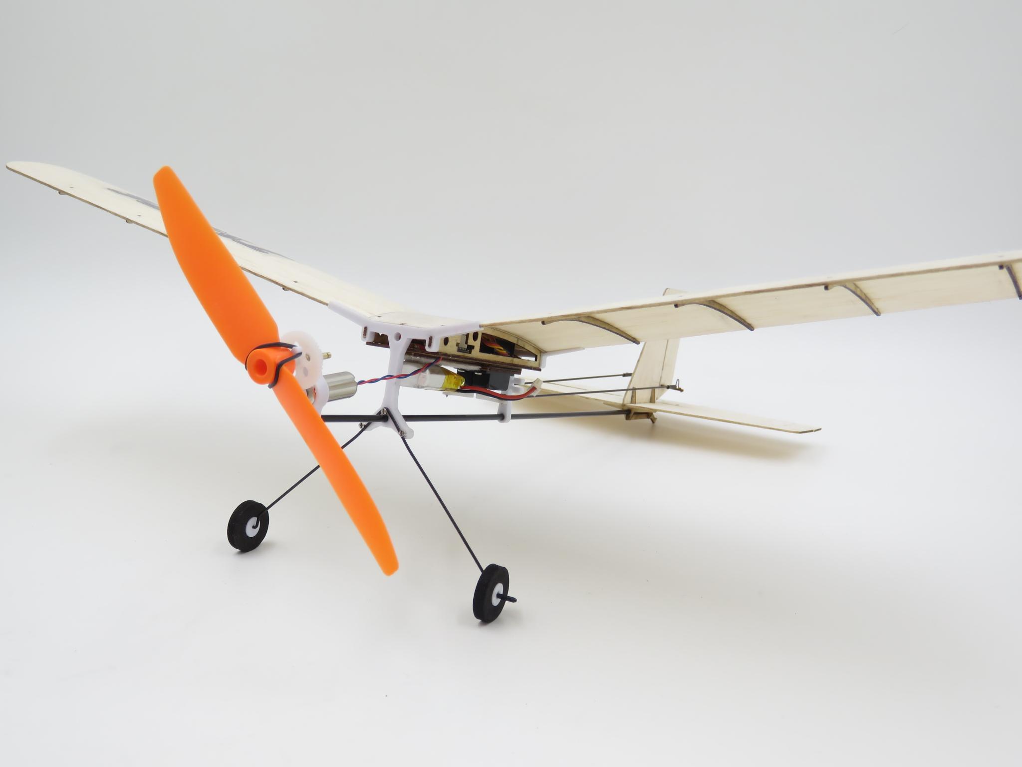 TY Model 3-3 370mm Wingspan Balsa Wood Laser Cut RC Airplane KIT - Photo: 4