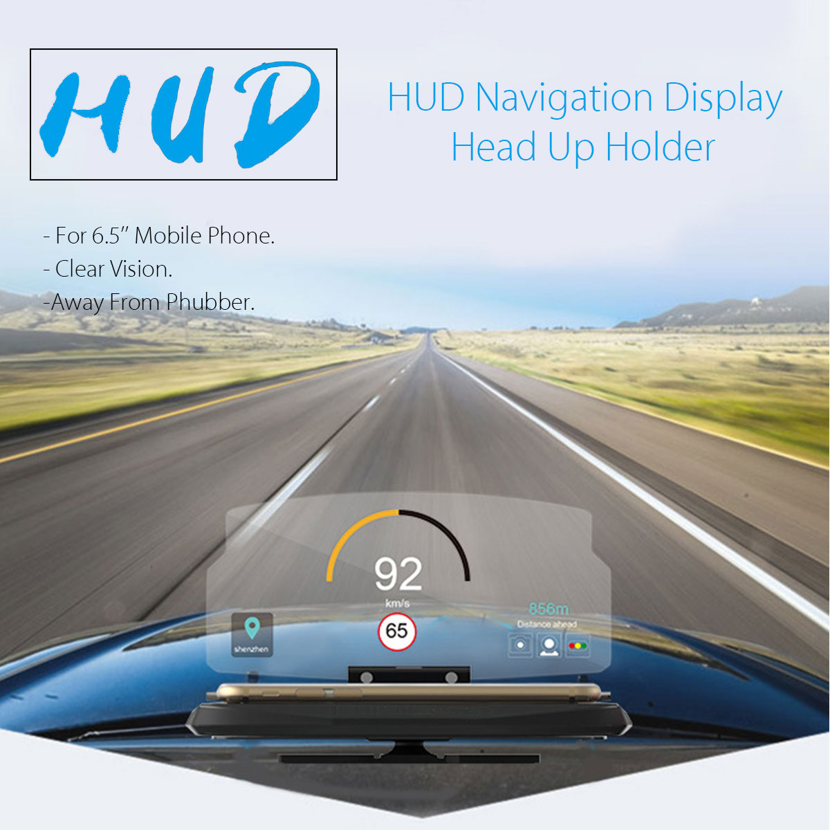 universal hud head up display car cell phone gps. Black Bedroom Furniture Sets. Home Design Ideas