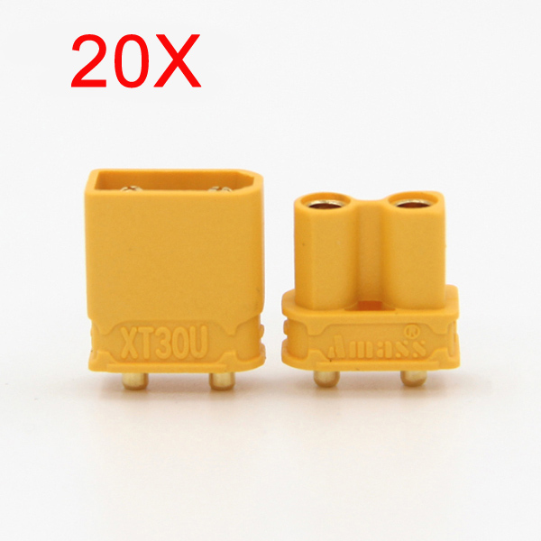 Buy 20X Amass XT30UPB XT30 UPB Plug 2mm Male Female Bullet Connectors Plugs For PCB