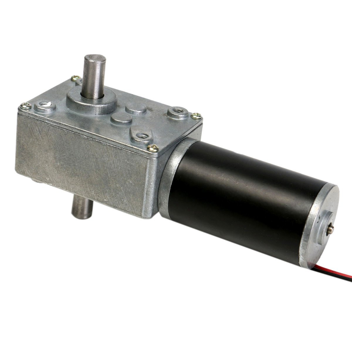 Buy 12V 160rpm Reduction Motor Worm Gear Double Shaft DC Cear-box