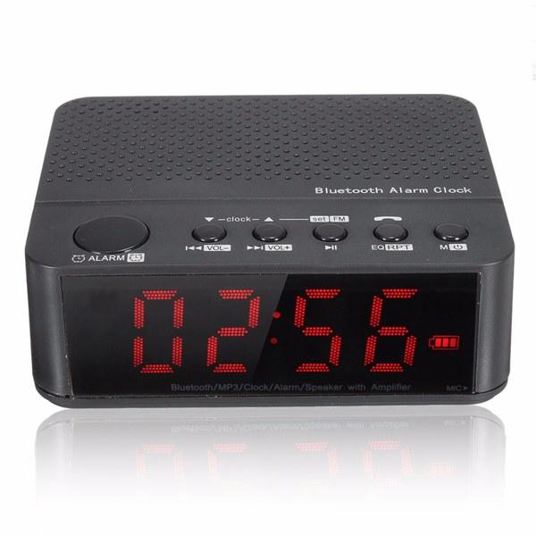 Digital LED Display Alarm Clock With Bluetooth Speaker Amplifier FM Radio Mp3 Player