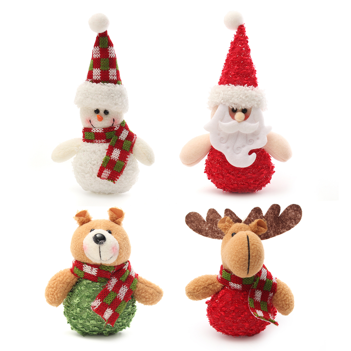 Christmas Haning Dolls Ornaments Snowman Reindeer Santa Claus Bear Xmas Decor - Photo: 9