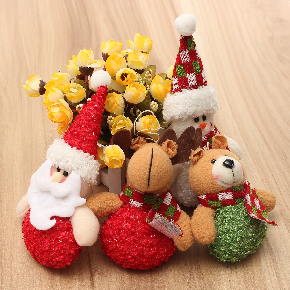 Christmas Haning Dolls Ornaments Snowman Reindeer Santa Claus Bear Xmas Decor - Photo: 3