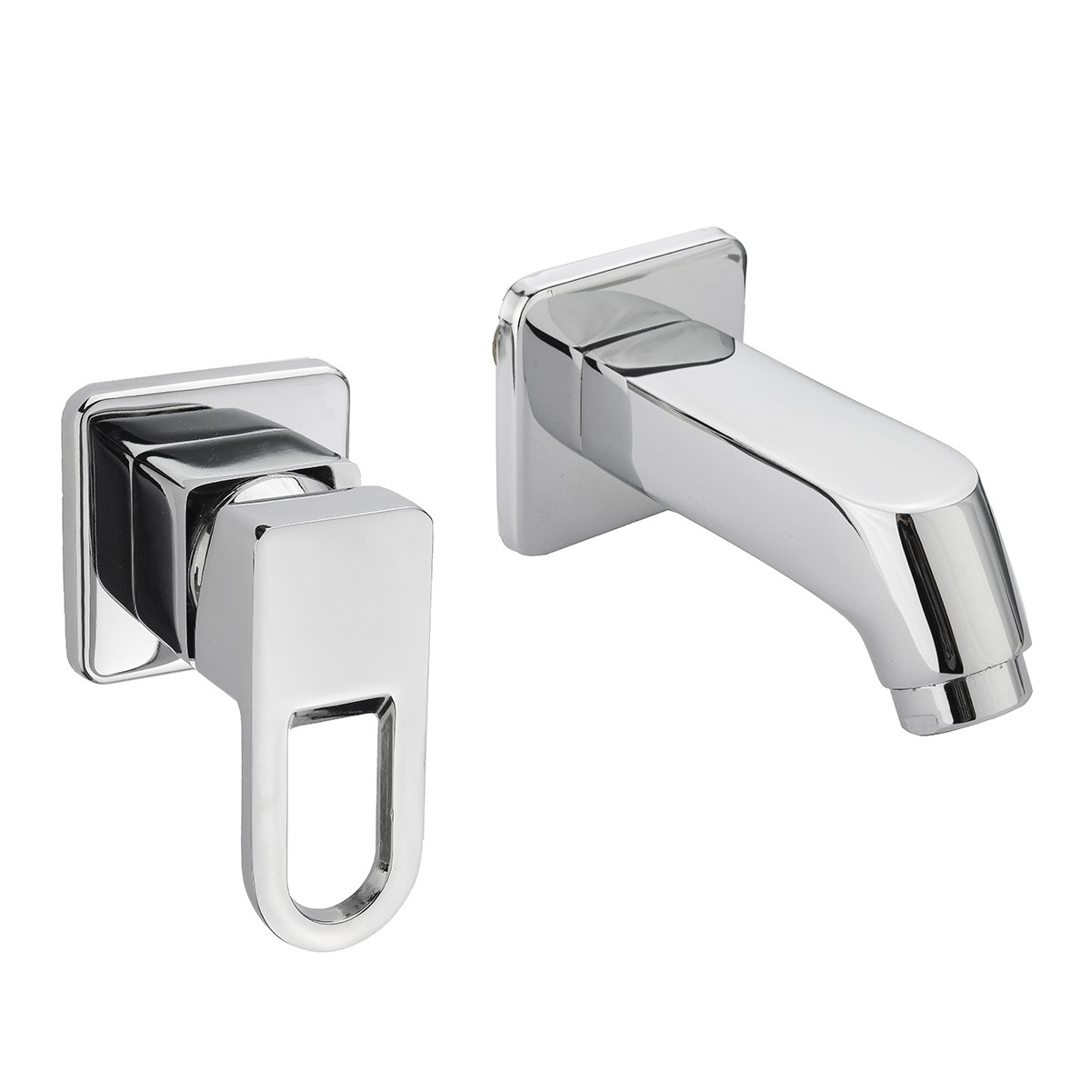 Modern Hot Cold Water Mixer Tap Wall Mounted Bathroom