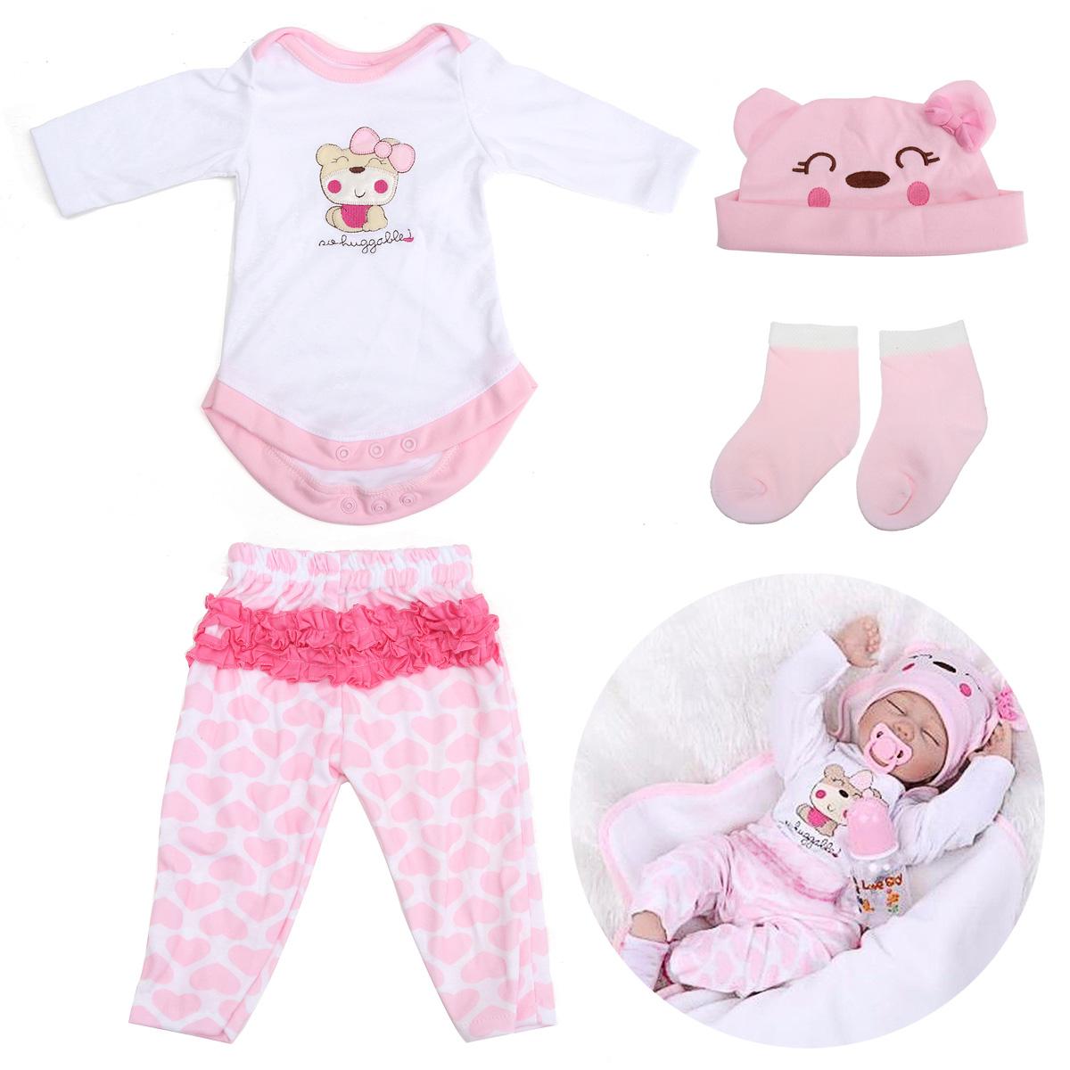 Pink Doll Clothes Set For 22inch Reborn Baby Doll at Banggood