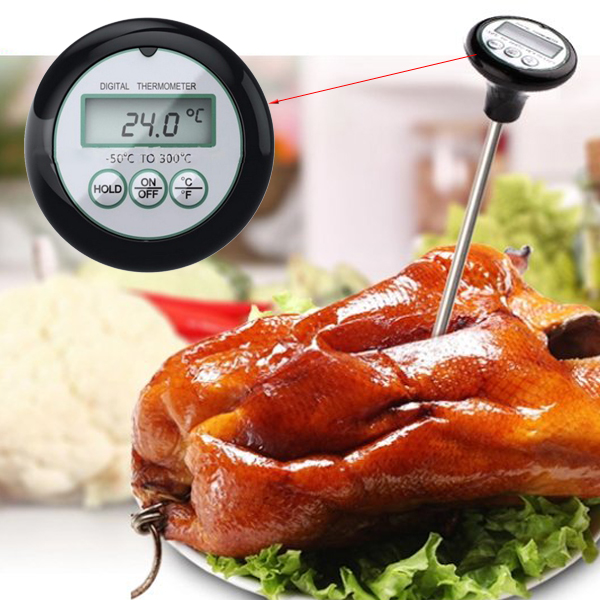 Buy Digital LCD BBQ Barbecue Thermometer Probe Food Meat Kitchen Measuring Tool