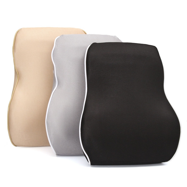 Buy Memory Foam Pillow Silk Waist Cushion Car Seat Lumbar Back Support Pad Universal