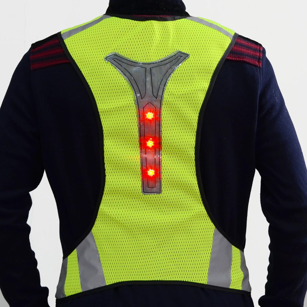 sports running jogging reflective led vest waistcoat exercise safety warning suit high. Black Bedroom Furniture Sets. Home Design Ideas