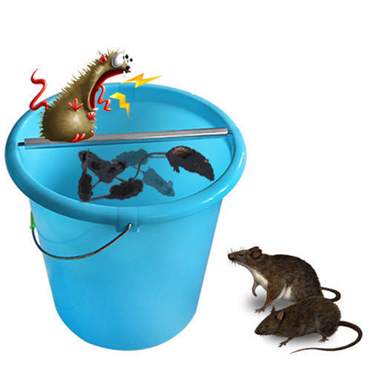 1 Pc Mice Trap Log Roll Bucket Mice Trap Rolling Mouse