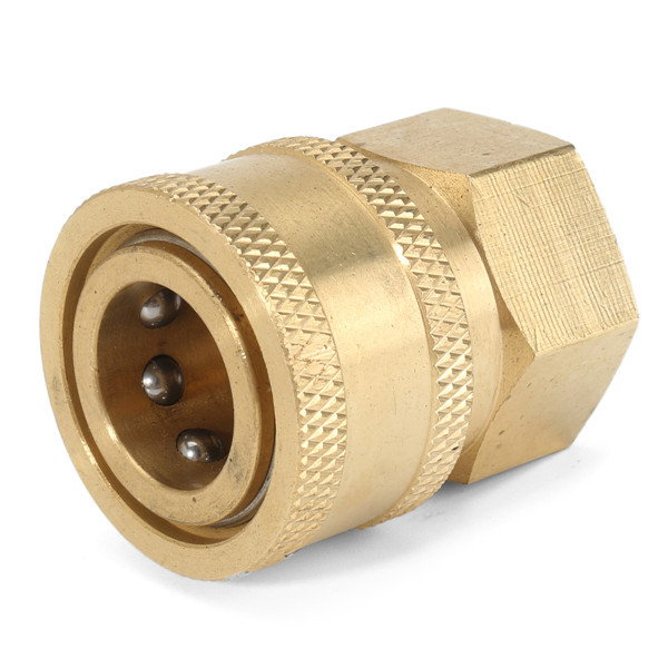 Brass Quick Connect Coupler Pressure Washer Pipe Thread Adapter