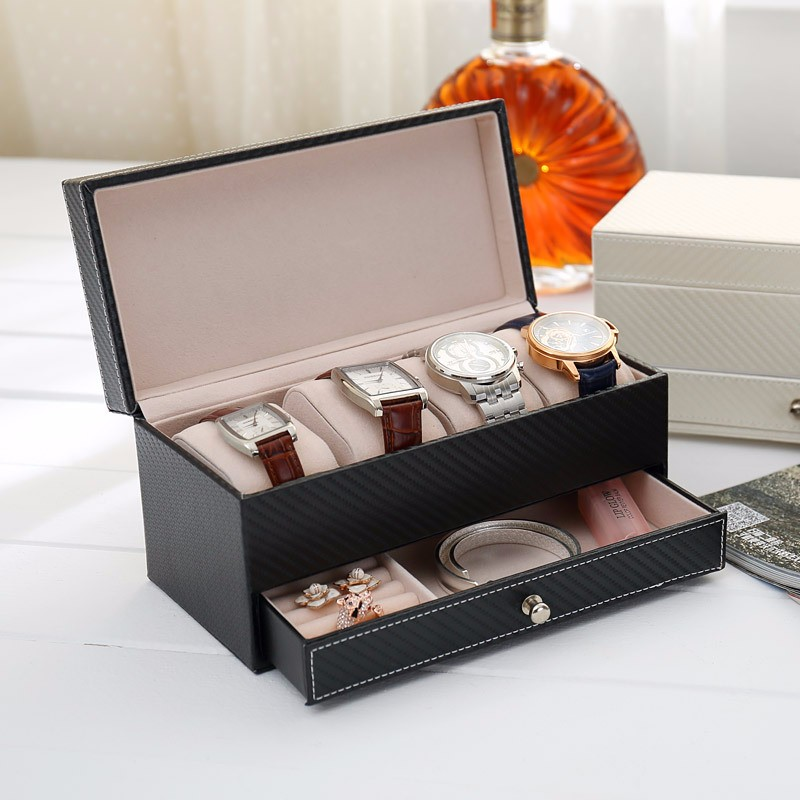 Watch Ring Bracelet Jewelry Cosmetic Jewelry Box Holder Gift Collect Case