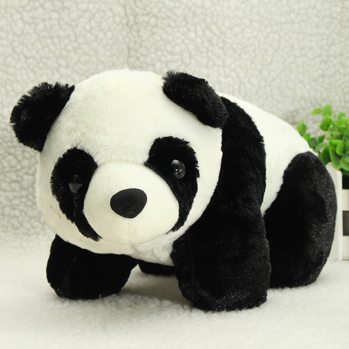 30cm 12'' Soft Plush Stuffed Panda PP Cotton Climbing Chinese Panda Doll Toy Gift - Photo: 1