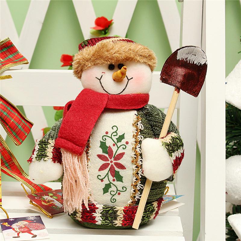Christmas Santa Claus Snowman Deer Stuffed Doll Standing Decoration Table Ornament  - Photo: 3