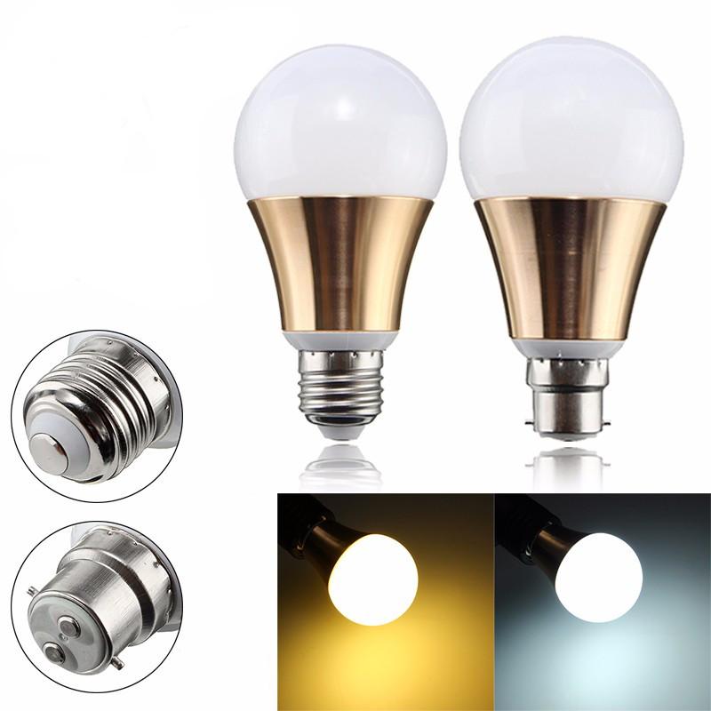 Non-dimmable 7W E27 B22 5730 SMD LED Light Globe Home Lamp Bulb AC85-265V