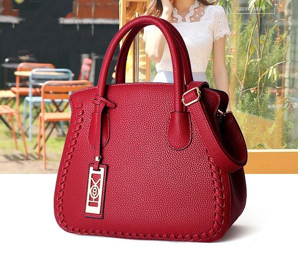 Women Quality PU Leather Elegant Vintage Capacity Handbag Shoulder Bag