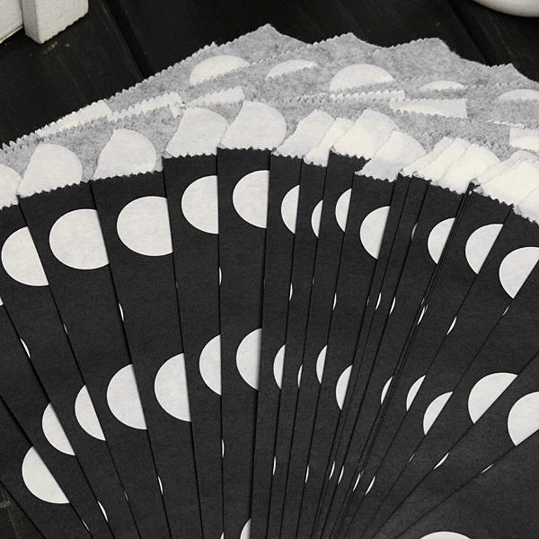 25pcs Biodegrable горошек конфета мешок подарок Свадьбы бумага еда мешок