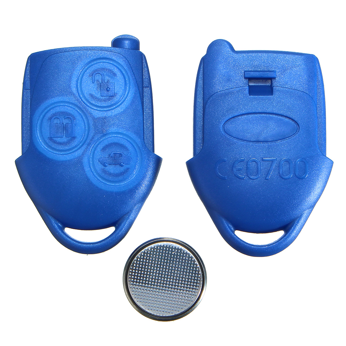 2 New Replacement Keyless Entry Blue Remote Key Fob For Ford Shell Case