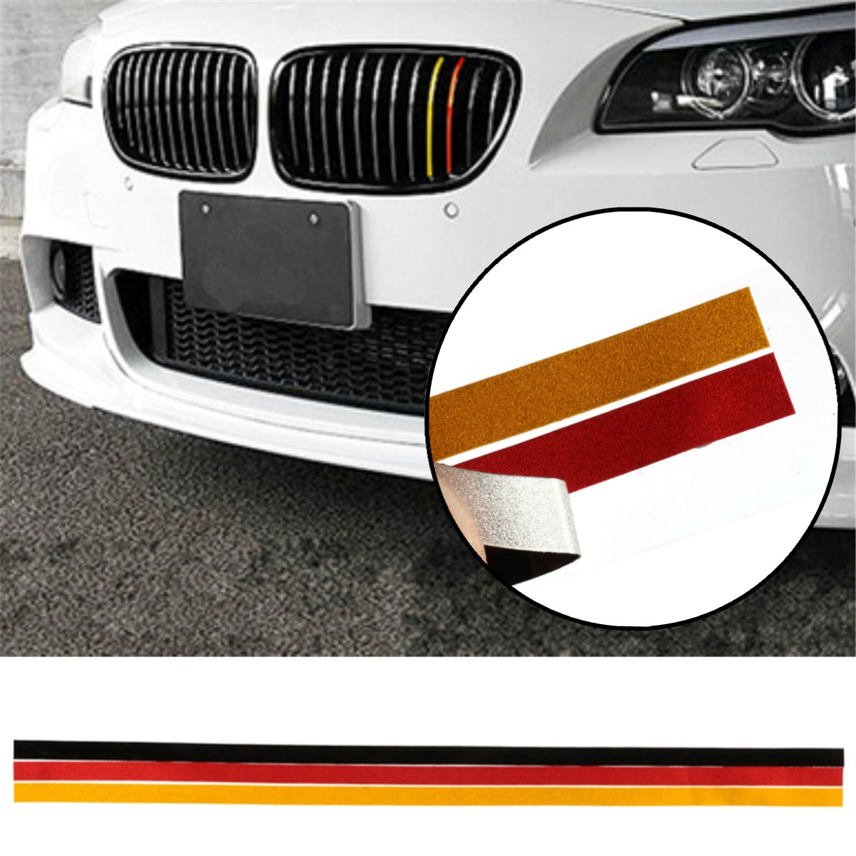M-Sport Grille Grill Vinyl Strip Sticker Decal For BMW