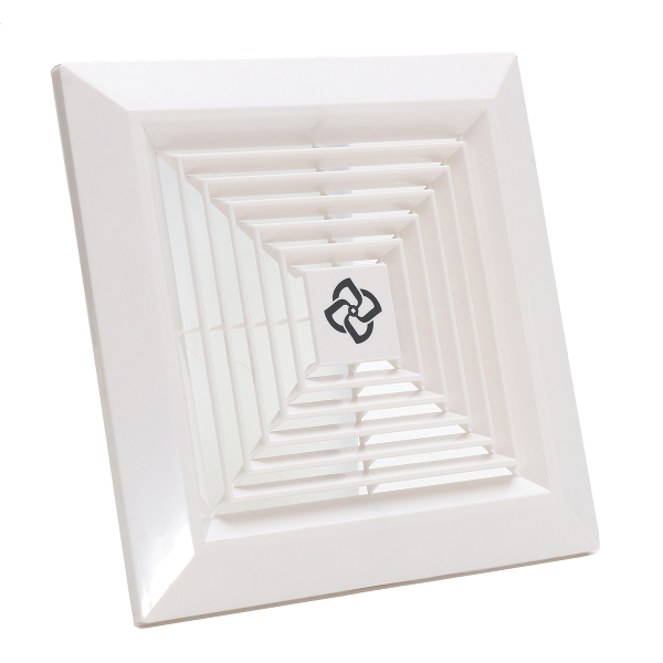 White plastic grille ceiling fan ventilation cover for 3 bathroom vent cover