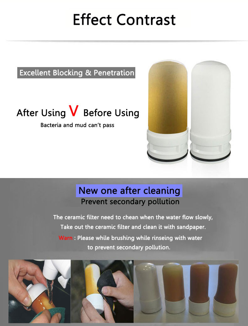 lts86 tap faucets water filter washable ceramic faucets mount water purifier - Ceramic Water Filter